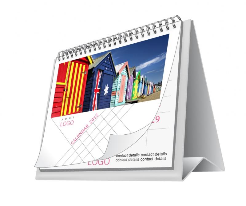 7 leaf classic square calendar